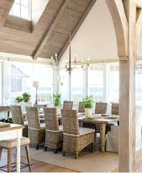 Beachy Dining Room Tables Table Beach House To Easy Kitchen Wall A