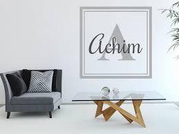 wandtattoo achim als namensschild monogramm oder