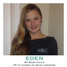 Eden VP in Charge of Being Awesome & Featured Rider at My Barn Child Courtesy of My Barn Child