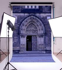 Laeacco Church Exterior Arch Door Photography Backgrounds Customized Photographic Backdrops For Photo Studio In Background From Consumer Electronics On