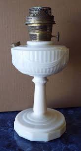 Aladdin Kerosene Lamp Model B by Old 1940s Aladdin Alacite Tall Lincoln Drape Pattern Oil Lamp