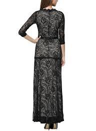 miusol women u0027s floral lace 2 3 sleeves long bridesmaid maxi dress