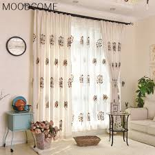 rideaux salle a manger prendre la nouvelle coton imprimé tissu rideaux cachée rideaux