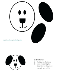 Dog Bone Cut Out Template Oval Box Pattern For Black Ears Gift Printable