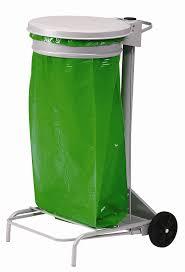 support sac poubelle cuisine poubelle de cuisine collecroule haccp 110 litres haccp couvercle gris
