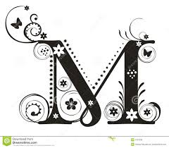 Letter M stock vector Image of illustration education
