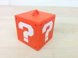 Mario Question Mark Block Hanging Lamp by Searched 3d Models For Super Mario Mystery Block Hanger Single