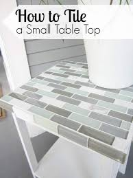 to tile a small table top