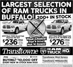 Largest Selection Of Ram Trucks In Buffalo, Transitowne Jeep ... Ram Truck Center Dodge Dealer In Tacoma Wa Chrysler Jeep Custom Lifted Ram Trucks Slingshot 1500 2500 Dave Smith 2018 Lone Star Covert Austin Tx Dealers 2017 Charger Offering Sport Trim Only Canada Autotraderca 2016 3500 Dealer Riverside Moss Bros Jake Sweeney New 20 Inspirational Images Cars And Express 4x4 Crew Cab 57 Box At Landers