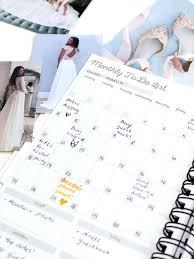 Wedding Checklist Month By Personalized Planner Book Gift For Bride Paper
