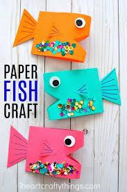 Cute Paper Fish Craft For Kids Ocean Crafts Summer Fun And Preschool