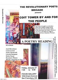 Coit Tower Murals Restoration by Event Poetry Reading Coit Tower By And For The People Living