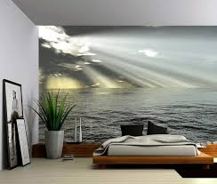 seascape ocean rays of light large wall mural self adhesive