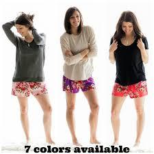 floral pajama shorts bridesmaid giftbridesmaid