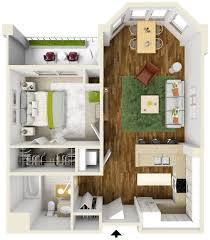 100 Small One Bedroom Apartments Plans Of