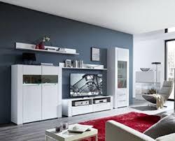 wohnwand wohnzimmer set dinaro 5 tlg sideboard vitrine wandboard tv regal weiß led beleuchtung