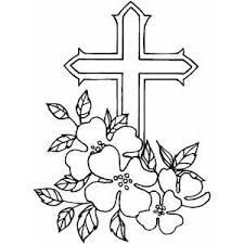 Cross With Flowers Tattoo