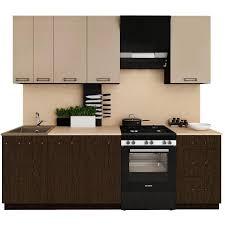 polini home küchenzeile küche einbauküche wenge cappuccino 250 cm