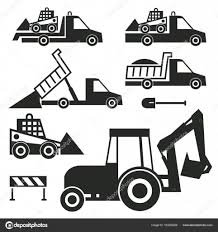 100 Signs For Trucks Construction Trucks And Tractor Icons Or Signs Set Stock Vector