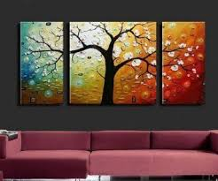 3 Piece Canvas Art Modern 100 Hand Painted Oil Painting On Wall