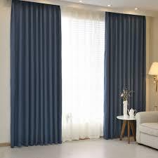 rideau fenetre chambre hôtel rideaux blackout salon couleur solide maison fenêtre