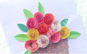 Easy Peasy And Fun Created Another Paper Flowers Card Idea For Kids To Get Creative With It Looks Pretty Difficult Make But Youll Be Pleasantly