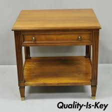 Kindel Belvedere 2332-46 French Regency One Drawer Cherry Lamp Side End  Table From Vintage Philly Furniture Of Philadelphia | ATTIC Kindel Fniture Cherry Banquetstyle Ding Room Table 1960s Breakfront Cabinet Rigakublogcom Details About L46708ec Set Of Kindel Shield Back Carved Mahogany Chairs Vintage Belvedere Spoonback Of 6 Rare Sofas Storage Cabinets More Hickory Chair Bedroom Chest 156673 Studio 882 The Arts French Country 4 Regency Style Wall Mirror Thomasville Fniture Tableau Collection Cane Arm 70195 233246 One Drawer Lamp Side End From Philly Pladelphia Attic