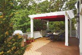 Roll Up Patio Shades Bamboo by Enjoying Your Pergola In Autumn