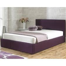 Super King Size Ottoman Bed by Latest Stirling 4ft6 Double Plum Fabric Storage Bed From Bed Sos