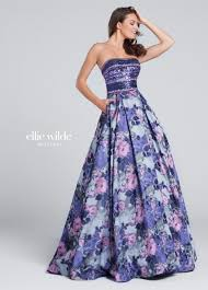 strapless full a line sequin bodice prom dress ew117162