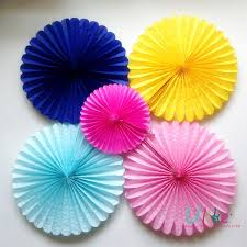 10 100ps Free Shipping Honeycomb Flower Lantern Fan Design Paper Lanterns Foldable Tissue Fans Craft Idea Cute Party In From Home