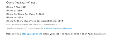 Out of warranty repairs for iPhone 6 runs up to $299 iPhone 6