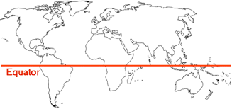 The Equator On A World Map