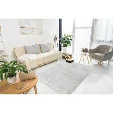 wollteppich teppich wolle hochwertig modern wohnzimmer creme grau 80cm x 150cm