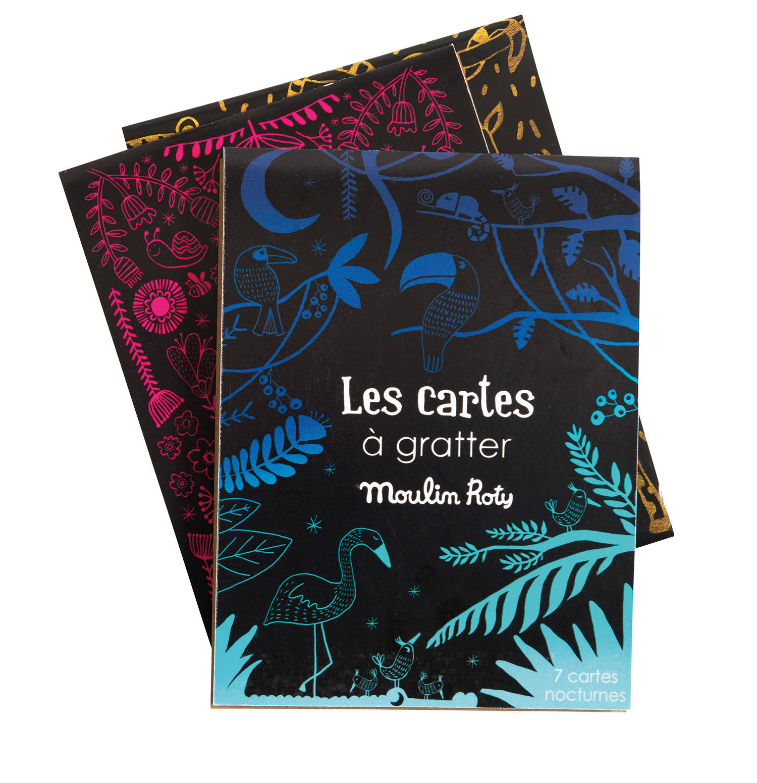 Scratch Art Cards Night-Time Les Petites Merveilles Moulin Roty