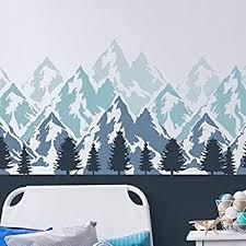 berge wandsticker wand malerei schablone kinderzimmer schlafzimmer heim wand dekoration handwerk schablone wandfarbe stoffe möbel 190 mylar