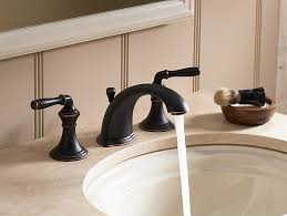 Kohler Forte Bathroom Faucet Handle Removal by Devonshire Widespread Sink Faucet With Lever Handles K 394 4