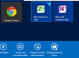 windows 8 créer un raccourci sur le bureau classique