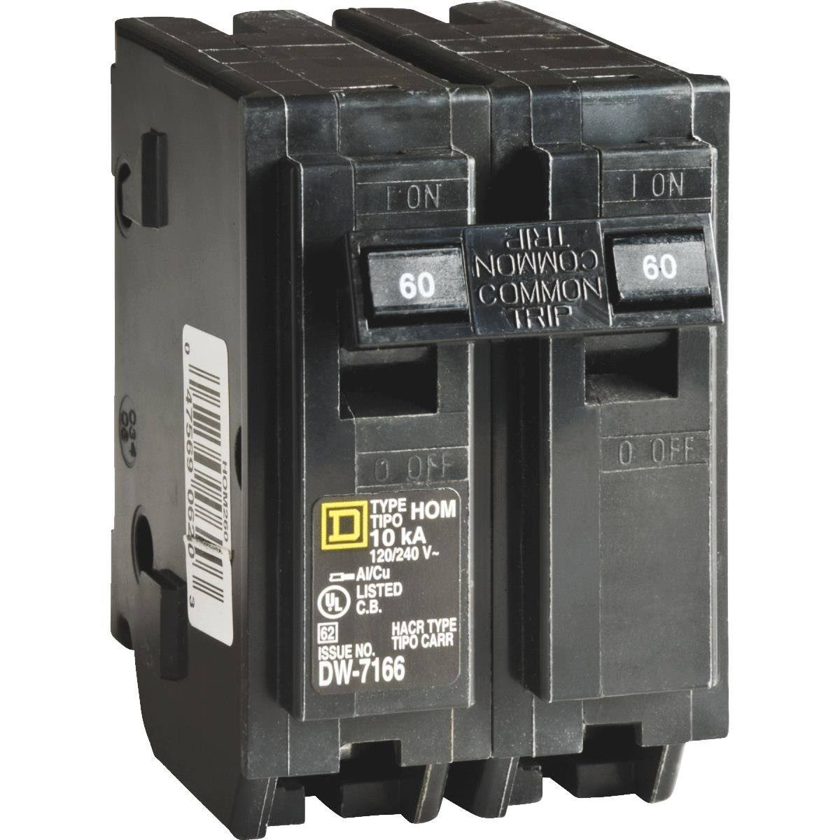 Square D Homeline Circuit Breaker - 2 Pole, 60A