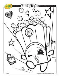 Shopkins Poppy Corn Coloring Page