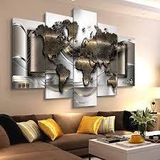 hbkj bild wandbild bilder wohnzimmer weltkarte poster
