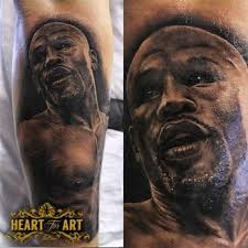 Floyd Mayweather Portrait Tattoo