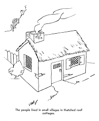 Pilgrims Homes Coloring Page
