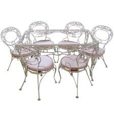 Vintage Russell Woodard Patio Furniture by Vintage Wrought Iron Patio Table U0026 Chairs Currently Painted