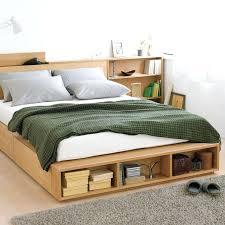 canape muji lit muji oak storage bed add on shelf canape lit muji