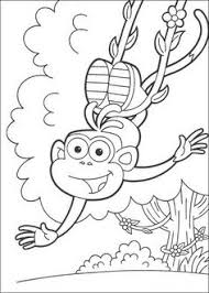 Happy Boots The Monkey Coloring Page We Have Selected This To Offer You Nice DORA THE EXPLORER Pages