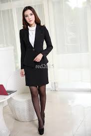 2018 Womens Business Suits Formal Office New 2015 Korean Fashion Spring Autumn Winter Women Work Wear Female Blazer Skirt Suit From Whitnety