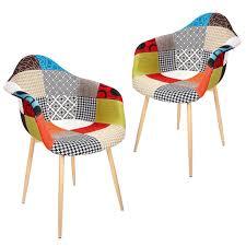 2er set esszimmerstühle wohnzimmerstuhl küchenstühle büro sitz patchwork armlehne polsterstuhl höchstgewichtempfehlung 120kg