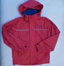 vineyard vines pink waterproof rain jacket stowaway hood mens