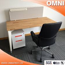 Glass Partition Modern Office Furniture Single Table Workstation